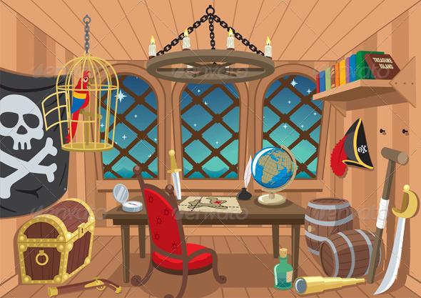 Captain's Cabin - Travel Conceptual