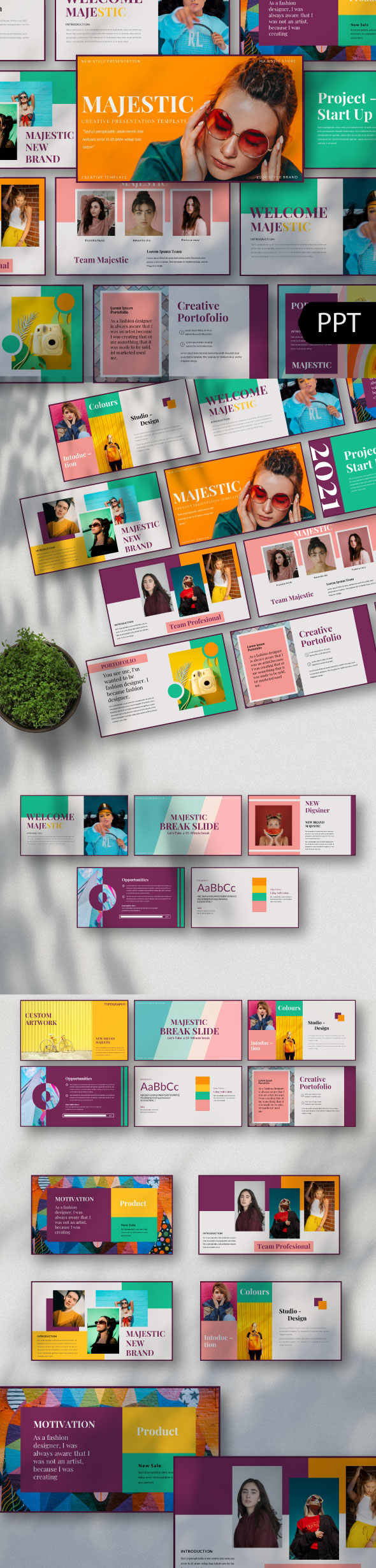 Majestic Creative Powerpoint Template