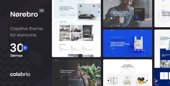Norebro - Creative Portfolio Theme for Multipurpose Usage