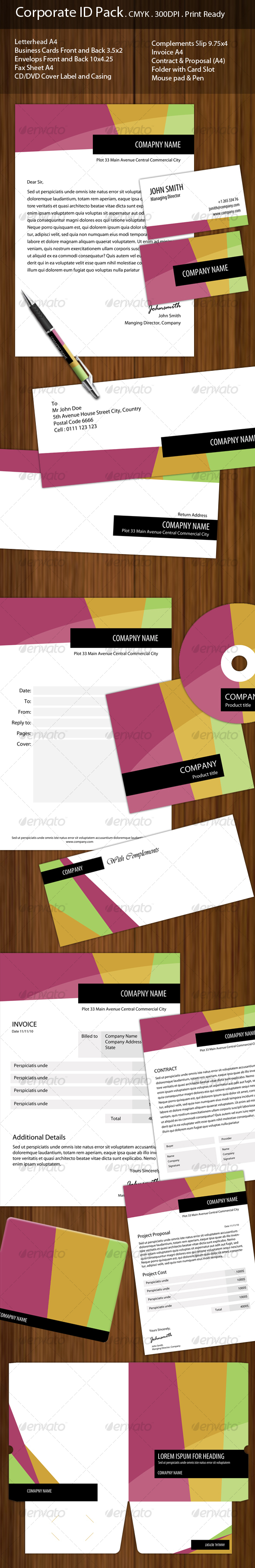 Corporate ID Complete Pack - Stationery Print Templates