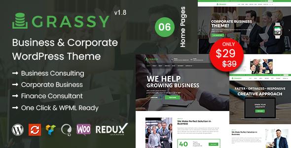 Grassy - Business WordPress Theme
