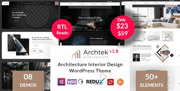 Archtek -  Architecture Interior Design WordPress Theme