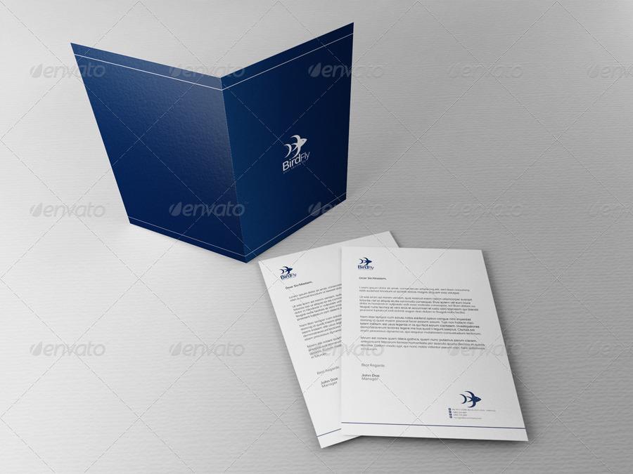 presentation folder letterhead mock up by juntravolta graphicriver