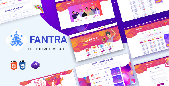 Extraordinary Fantra - Online Lotto & Lottery HTML Template