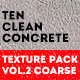 Clean Concrete Texture Pack Vol.2 Coarse - GraphicRiver Item for Sale