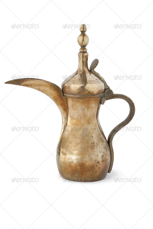 Anique Arabic coffee can - Stock Photo - Images