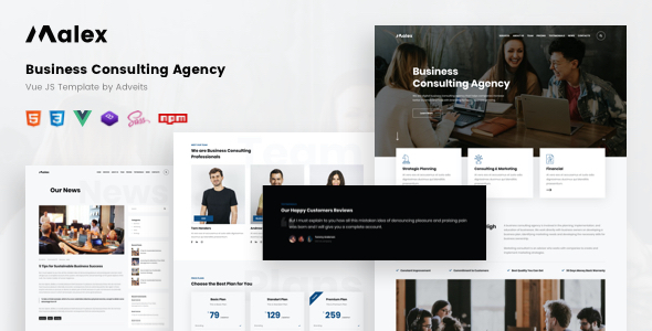Malex - Business Consulting Agency Vue JS Template