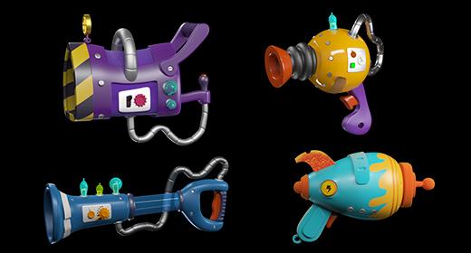 cartoon guns