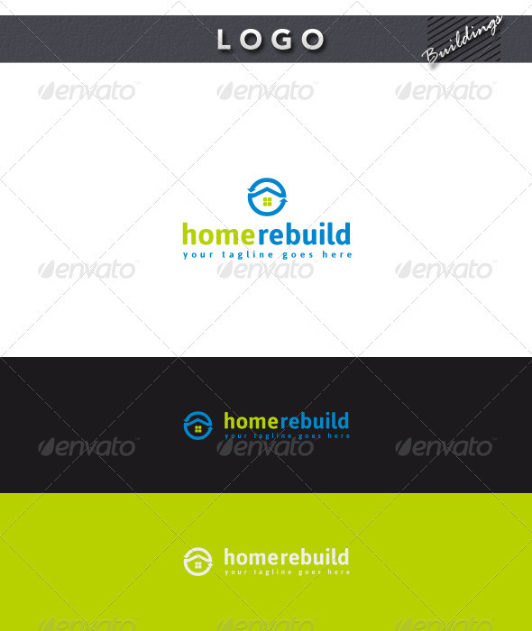 Home Rebuild Logo - Buildings Logo Templates