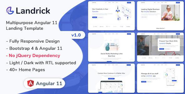 Landrick - Angular 11 Landing Page Template