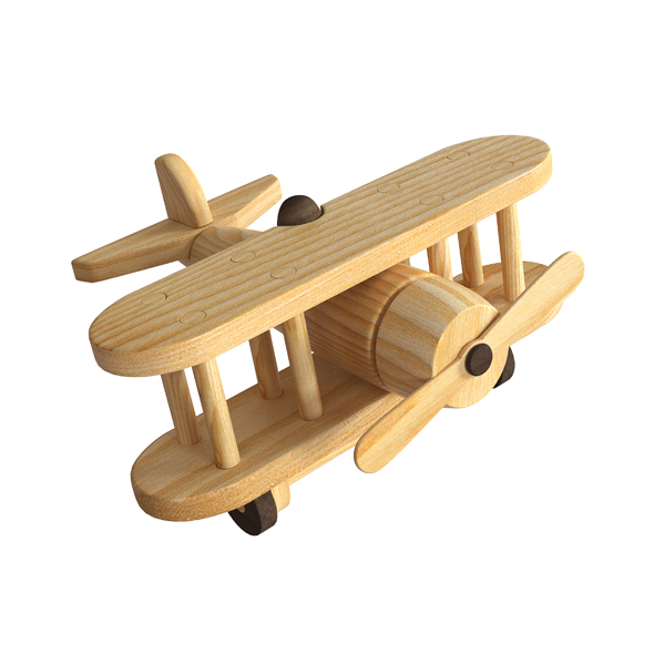 Airplane wooden toy