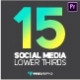 Dark Glossy Social Media Lower Thirds - VideoHive Item for Sale