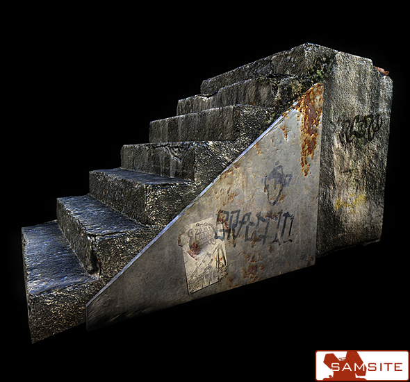 Old Stairs - 3DOcean Item for Sale