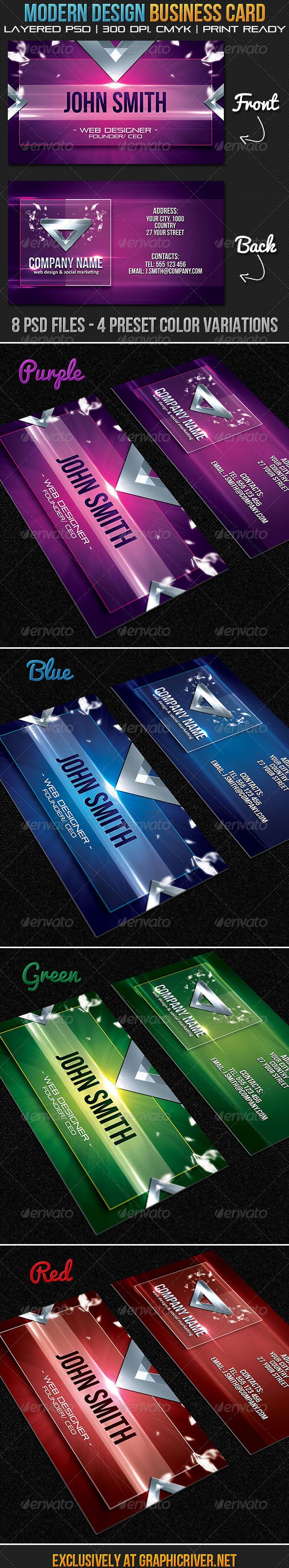 Modern Design Business Card - Creative Business Cards