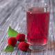 Raspberries and drink