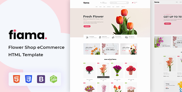 Fiama - Flower Shop eCommerce HTML Template