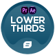 Lower Thirds | Dots Generator | MOGRT - VideoHive Item for Sale