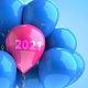 Floating 2021 Balloons - VideoHive Item for Sale