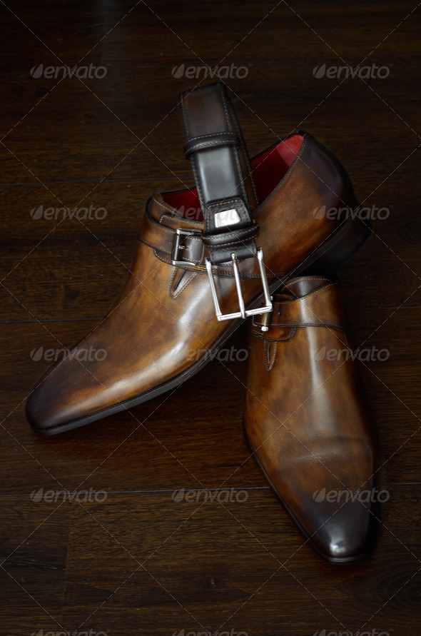 Luxury shoes and belt - Stock Photo - Images
