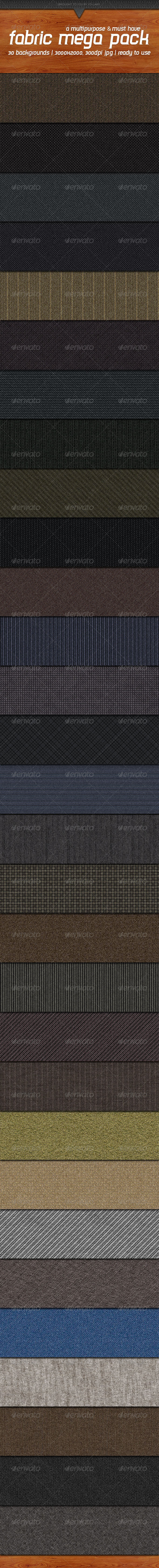 Fabric Mega Pack 2 - Patterns Backgrounds