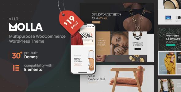 Molla | Multi-Purpose WooCommerce Theme Nulled