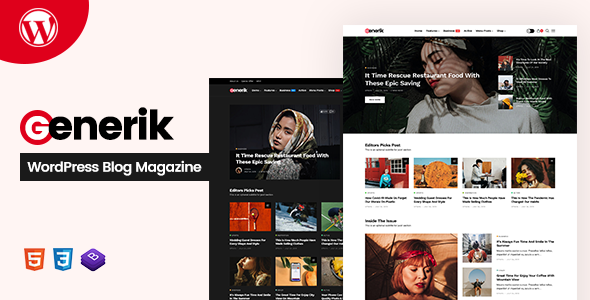 [Download] Generik - Multipurpose WordPress Blog Magazine Theme Free Nulled