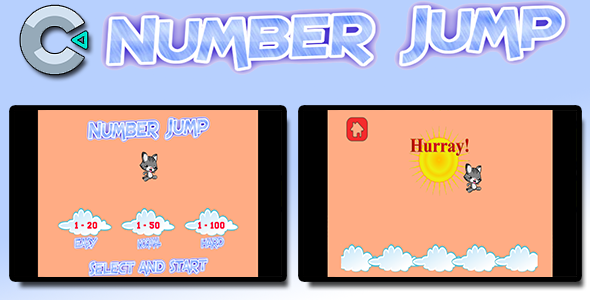 Number Jump - HTML5 Mobile Game