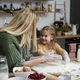 Mom and little daughter playing with flour while baking - PhotoDune Item for Sale