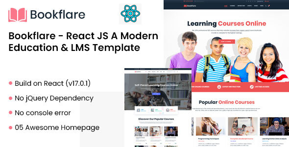 Bookflare - React JS A Modern Education Template