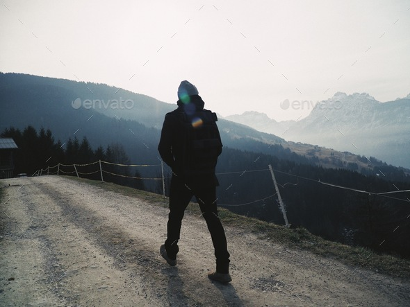 Man of the mountain - Stock Photo - Images