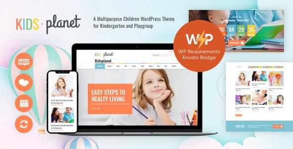 Kids Planet - A Multipurpose Children WordPress Theme for Kindergarten and Playgroup