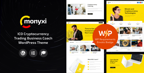 Monyxi | ICO Cryptocurrency Trading Business Coach WordPress Theme
