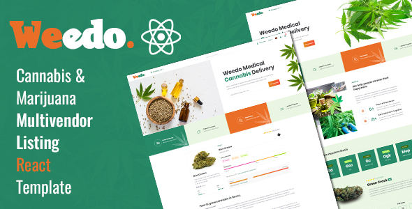 Weedo | Medcial Cannabis React Template