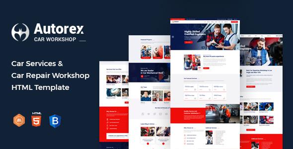 Autorex - Car Service & Workshop HTML Template