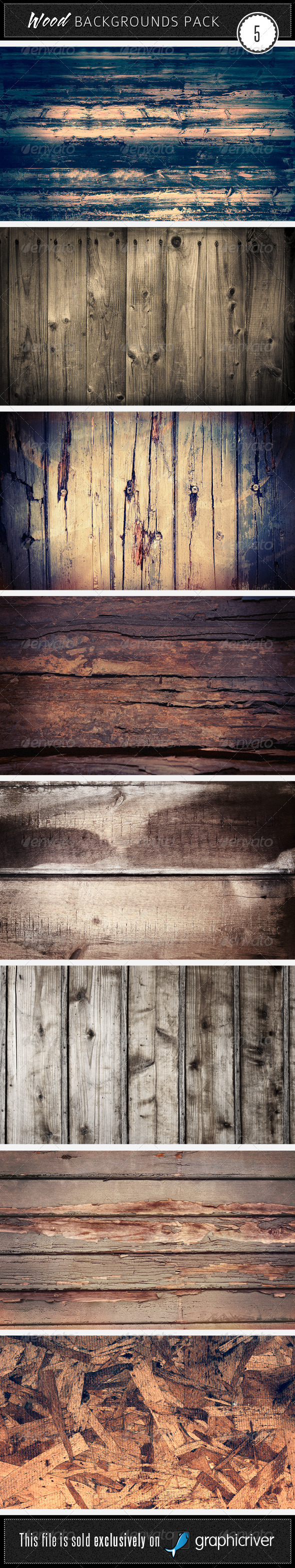 Wood Backgrounds Pack 5 - Wood Textures