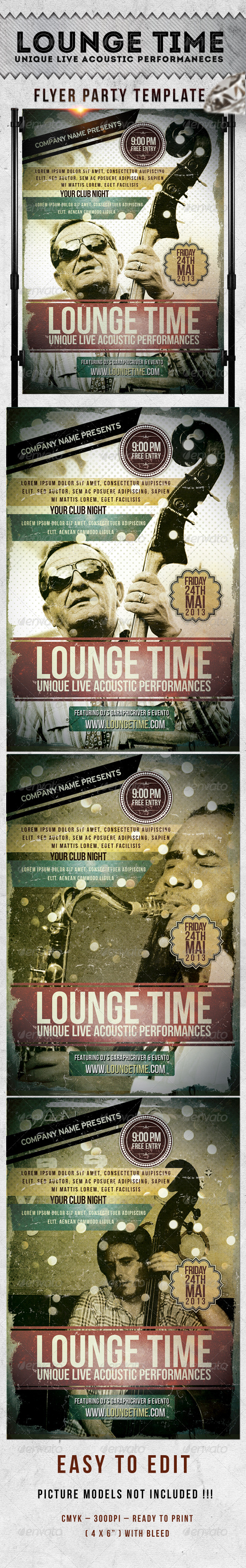 Lounge Time Flyer Template - Events Flyers
