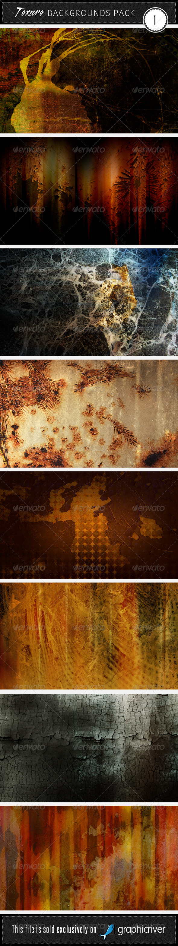 Texture Backgrounds Pack 1 - Miscellaneous Textures