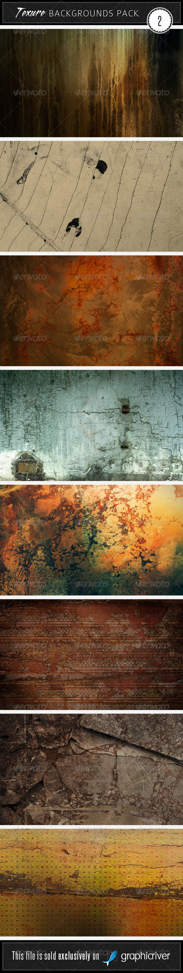 Texture Backgrounds Pack 2 - Miscellaneous Textures