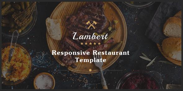 Beautiful Lambert - Restaurant / Cafe / Pub Template