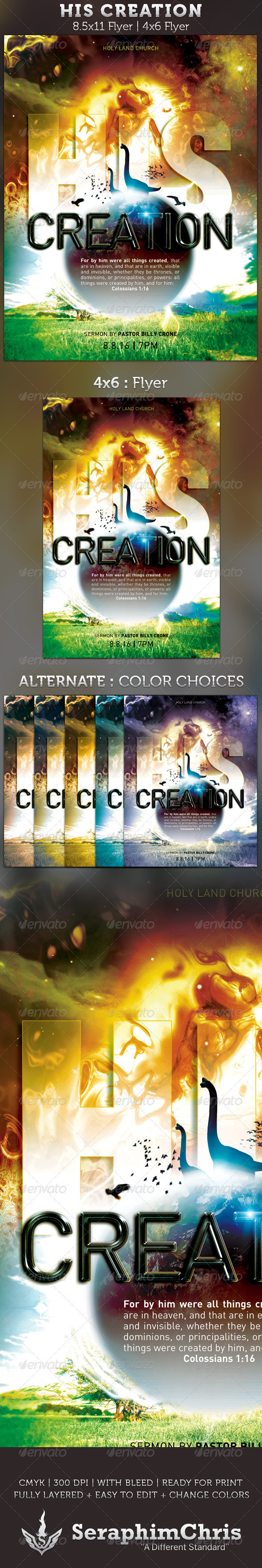 His Creation: Church Flyer template - Church Flyers
