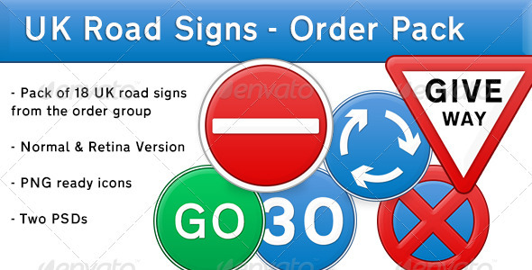Retina UK Road Signs - Order Pack - Miscellaneous Icons