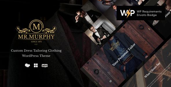 Mr. Murphy - Custom Dress Tailoring Clothing WordPress Theme