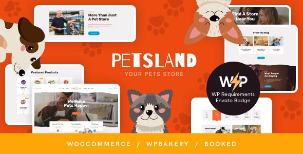 Pets Land | Domestic Animals Shop & Veterinary WordPress Theme