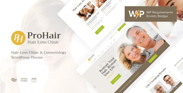 ProHair | Hair Loss Clinic & Cosmetology WordPress Theme