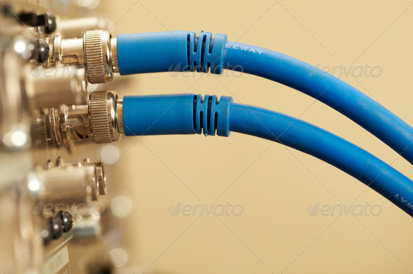 Two HD SDI-video cables - Stock Photo - Images