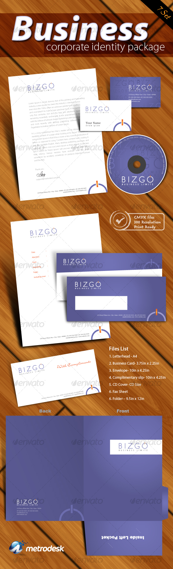 Corporate Identity 7 pack [Print Ready] - Stationery Print Templates