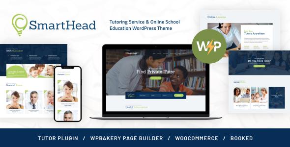 SmartHead | Tutoring Service & Online School Education WordPress Theme