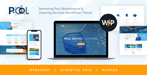 Swimming Pool Maintenance & Cleaning Services WordPress Theme
