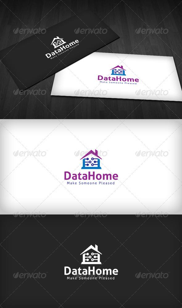Data Home Logo - Buildings Logo Templates