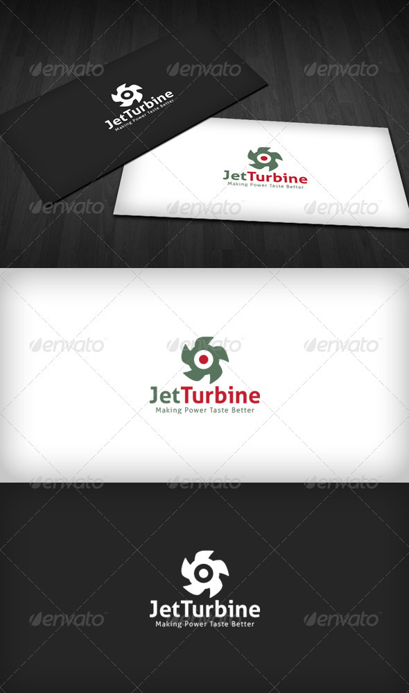 Jet Turbine Logo - Vector Abstract